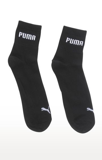 Puma | Black Solid Socks - Pack of 3