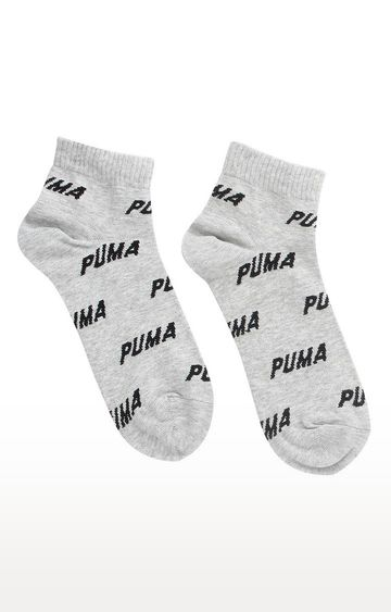 Puma | Grey Printed Socks - Pack of 2