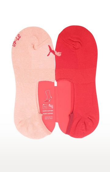 Puma | Red and Pink Solid Socks - Pack of 2