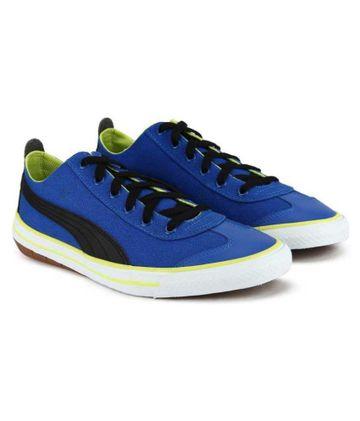 Puma | Blue Puma Boys Lace Sneakers