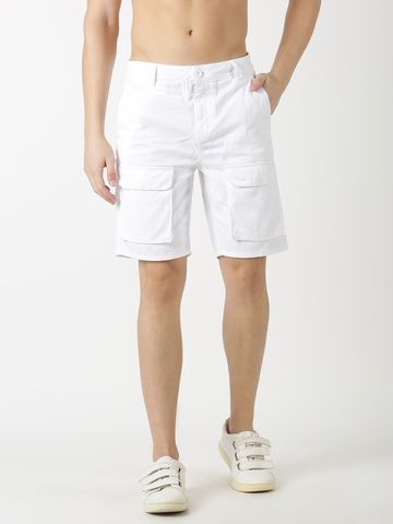Blue Saint | Blue Saint Men'S Solid White Shorts