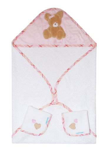 Mothercare | Abracadabra Hooded Towel Set - Tender Heart