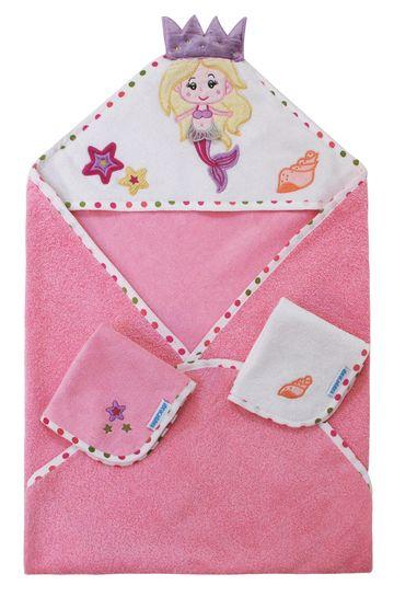 Mothercare | Abracadabra Hooded Towel Set - Mermaid