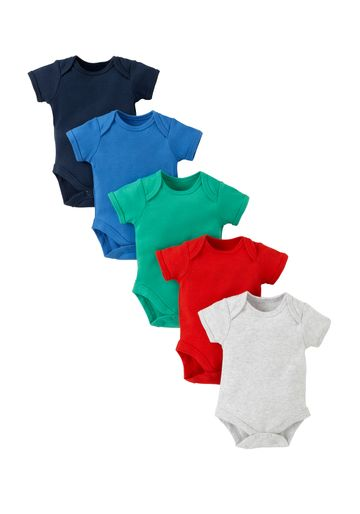 Mothercare | Boys Bodysuits - Pack Of 5 - Multicolor