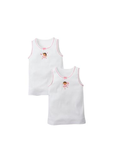 Mothercare | Girls  Dora The Explorer Vests - Pack Of 2 - Multicolor