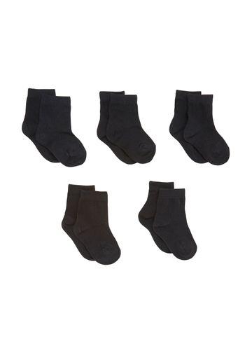Mothercare | Black Boys Plain Black Socks- Pack Of 5