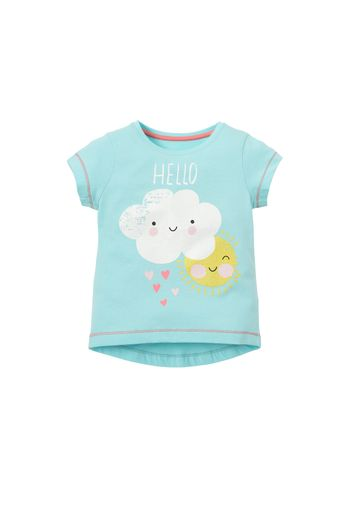 Mothercare | Blue Girls Hello T-Shirt