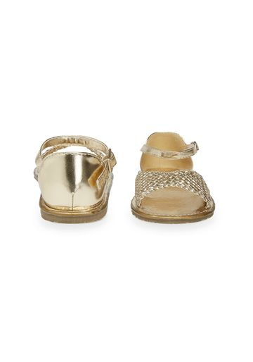 Mothercare | Girls Metallic Woven Sandals - Gold