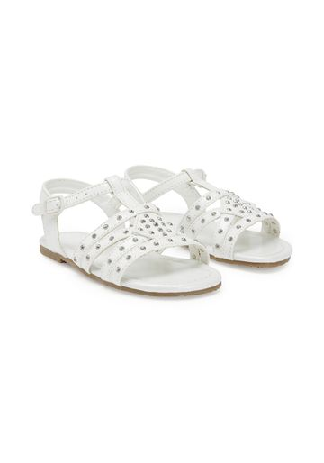 Mothercare | Girls T-Bar Sandals - White