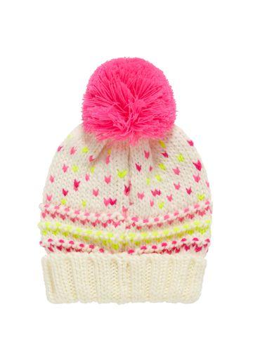 Mothercare | Girls Pom Pom Hat - Cream