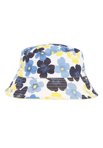 Mothercare | Girls Floral Jersey Sun Hat - Blue