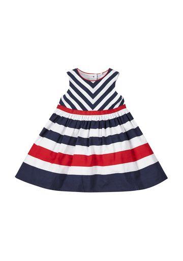 Mothercare   Girls Nautical Stripe Dress - Navy