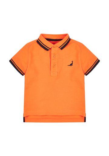 Mothercare | Boys Orange Dinosaur Polo Shirt