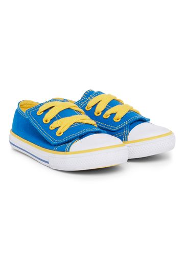 Mothercare | Boys Blue And Yellow Canvas Shoes