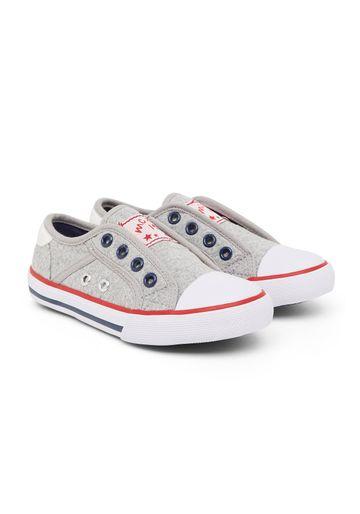 Mothercare | Boys Grey Eyelet Canvas Shoes