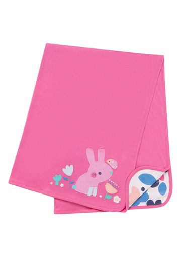 Mothercare | Girls Pink Bunny And Floral Shawl