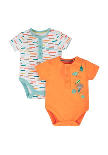 Mothercare | Boys Jungle Pals Bodysuits - Pack Of 2