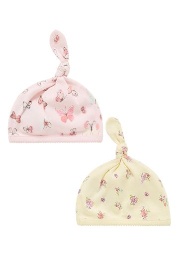 Mothercare | Multicolor Girls Butterfly Hats- Pack Of 2