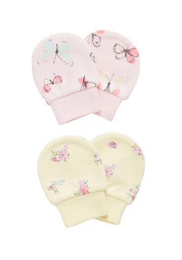 Mothercare | Girls Butterfly Mitts - Pack Of 2 - Multicolor