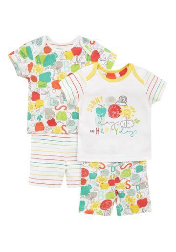 Mothercare | Unisex Happy Bug Pyjamas - Pack Of 2 - Multicolor