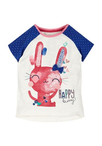 Mothercare | Girls Happy Bunny T-Shirt