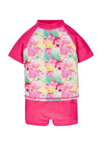Mothercare | Pink Girls Bird Vest And Shorts Sunsafe Set