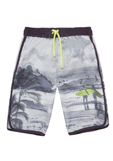 Mothercare | Black White Boys Beach Swim Shorts