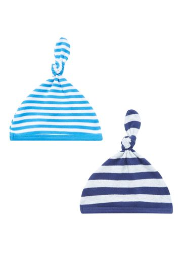Mothercare | Boys Stripy Hats - Pack Of 2 - Blue