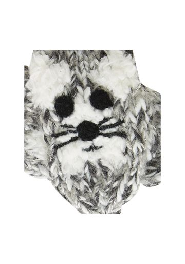 Mothercare | Girls Novelty Cat Mitts - Grey