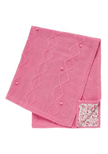 Mothercare | Girls Knitted Floral Lined Shawl - Pink
