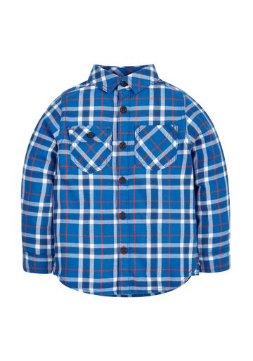 Mothercare | Boys Check Shirt - Blue