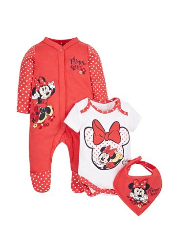 Mothercare | Girls Disney Minnie Mouse 3 Piece Set - Red