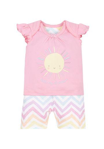 Mothercare | Girls Sunshine Shortie Pyjamas - Multicolor
