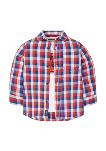 Mothercare | Boys Full Sleeves Check Shirt And T-Shirt Set  - Multicolor