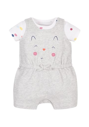 Mothercare | Girls Spotty Print Dungaree Set