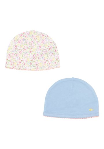 Mothercare | Multicolor Girls Floral And Plain Hats - Pack Of 2