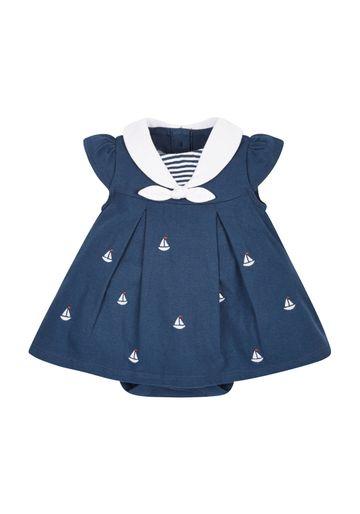Mothercare   Girls Sailor Romper Dress - Navy