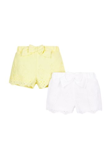 Mothercare | Girls Broderie Shorts - Pack Of 2 - Yellow