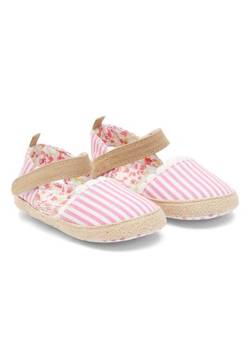 Mothercare | Girls Striped Pram Shoes
