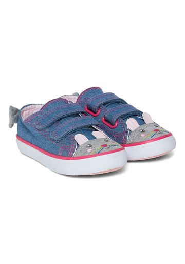 Mothercare | Girls Bunny Denim Trainers - Blue
