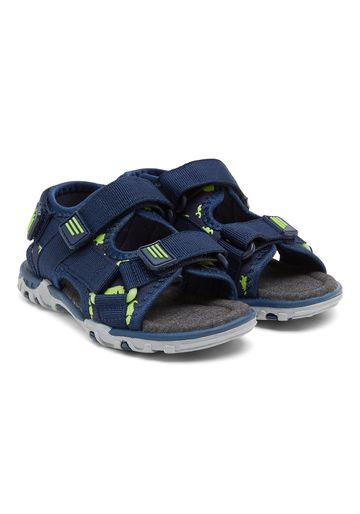 Mothercare | Navy Boys Blue Dinosaur Print Trekker Sandals