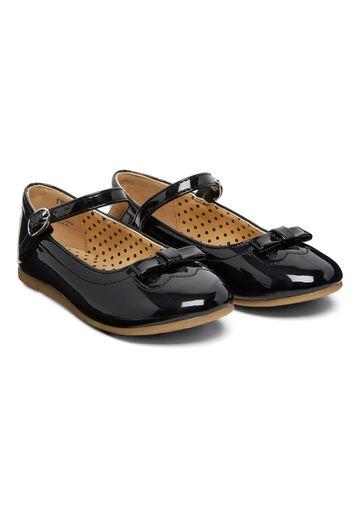 Mothercare | Girls Bow Ballerina Shoes - Black