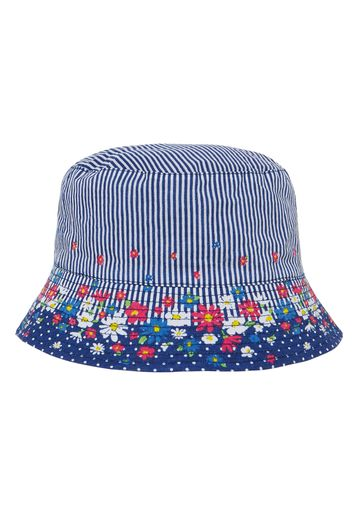 Mothercare | Girls Floral And Striped Sun Safe Fisherman Hat - White
