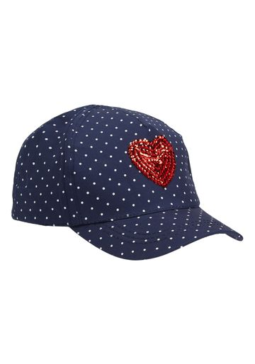 Mothercare | Girls Spotted Heart Cap - Navy