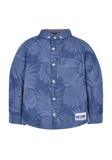 Mothercare | Boys Leaf Print Shirt - Blue