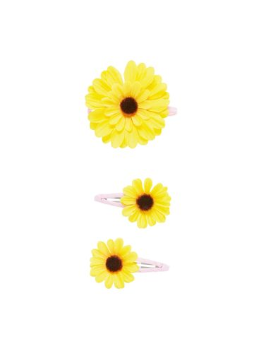 Mothercare | Yellow Girls Sunflower Hair Band And Click Clack Clips - Pack Of 3