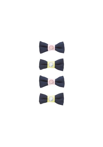 Mothercare | Navy Girls Mini Navy Bow Croc Clips - Pack Of 4