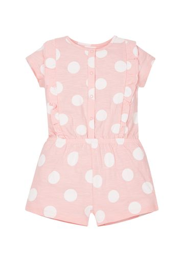 Mothercare | Girls Pink Spotty Playsuit