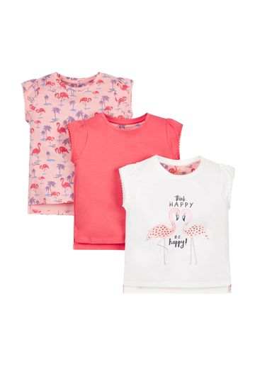 Mothercare | Girls Pack Of 3 Of Tees - Multicolor