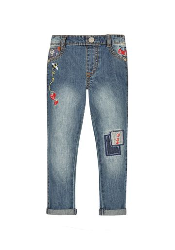 Mothercare | Girls Embroidered Jeans - Blue